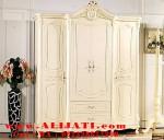 Almari Pakaian 4 Pintu Minimalis Cat Duco  Putih