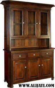 Bufet Tradisional kayu jati model klasik