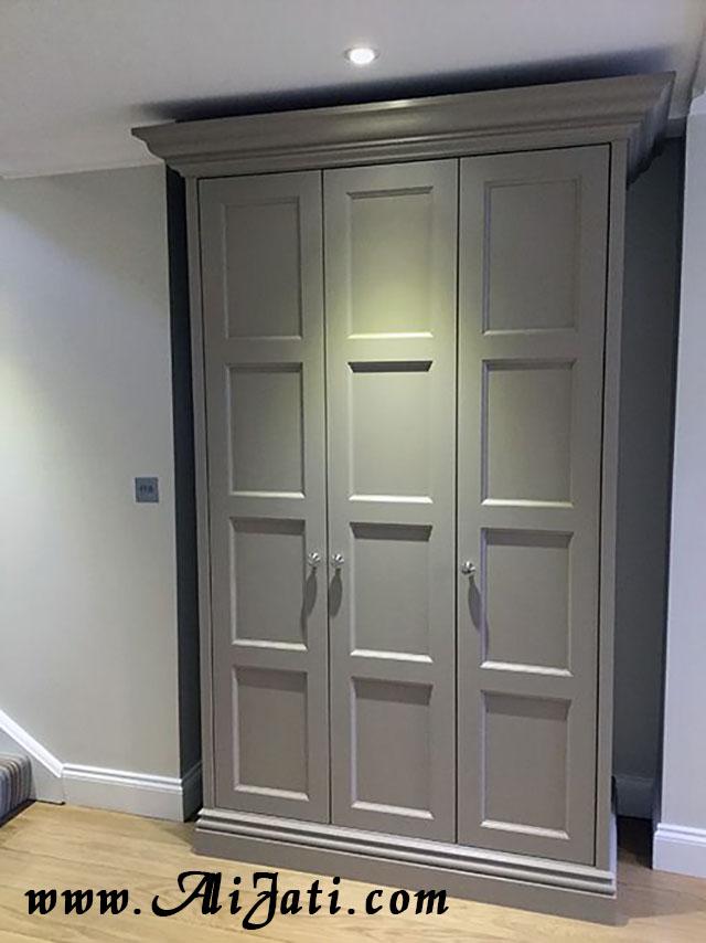 almari 3 pintu minimalis kayu jati model belanda