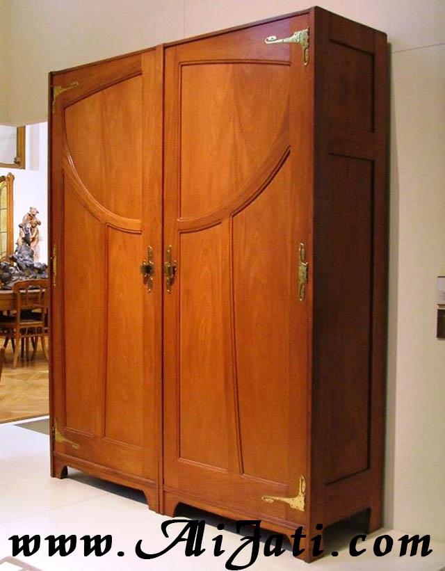 almari baju besar 2 pintu minimalis motif standar