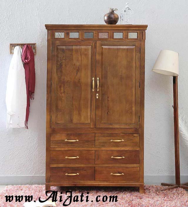 almari minimalis jati 2 pintu modern khas belandaalmari minimalis jati 2 pintu modern khas belanda