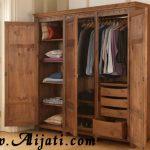 almari pakaian 3 pintu minimalis khas jepara