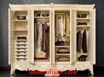 Almari Pakaian Keren Mewah 4 Pintu Kayu Jati