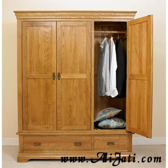 almari pakaian tiga pintu minimalis model german