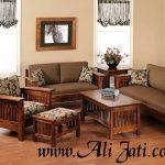 kursi tamu rumah keren minimalis kayu jati