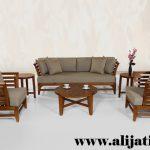 kursi tamu rumah mewah modern kayu jati klasik
