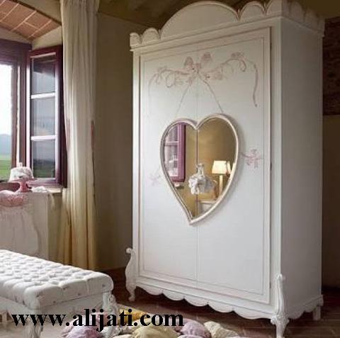 almari baju anak cantik 2 pintu motif love