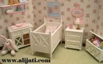 Box Bayi 1 Set Kayu Jati Cat Duco Putih