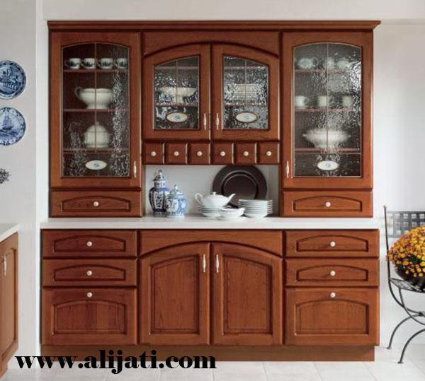 bufet hias model klasik kayu jati modern
