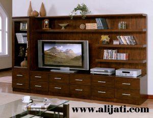 Bufet Tv Mewah Jati Model Terbaru