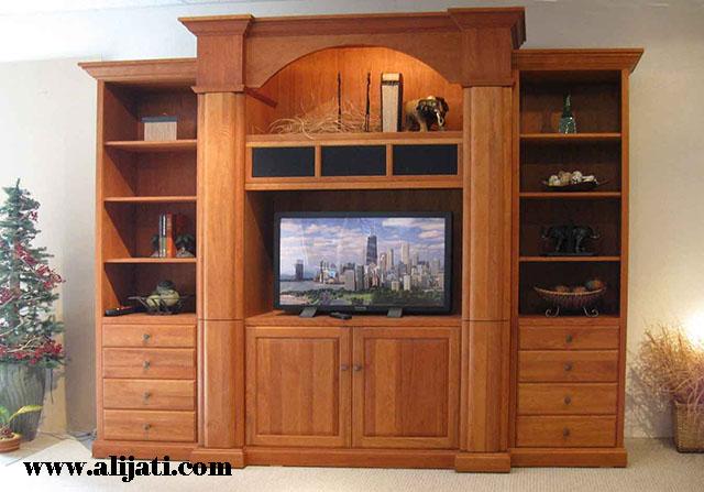 bufet tv tradisional minimalis jati terbaru