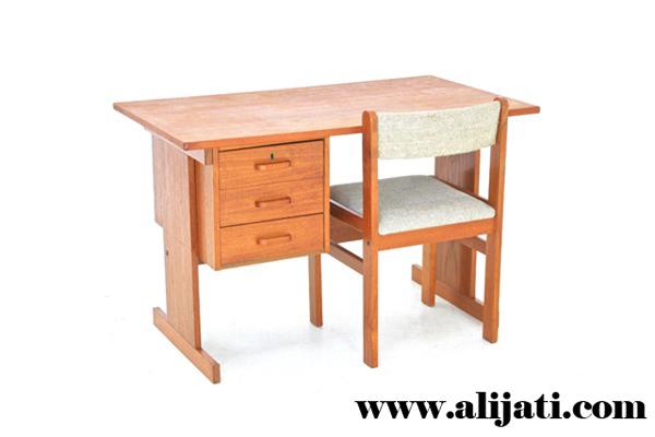 meja belajar anak minimalis jati