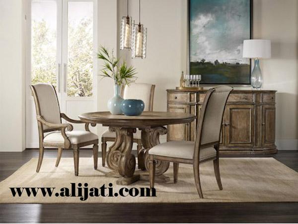 meja makan 3 kursi kayu jati klasik