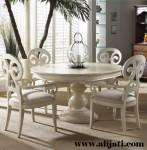 Meja Makan 4 Kursi Cat Duco Putih