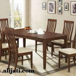 meja makan 6 kursi kayu jati modern