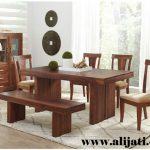 meja makan kayu jati asli 4 kursi