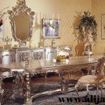 meja makan mewah 4 kursi model eropa