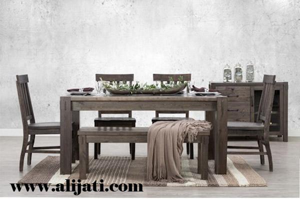 meja makan minimalis kayu jati