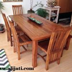 meja makan rumah minimalis 4 kursi