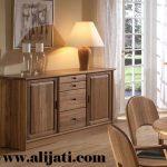 nakas kayu jati klasik minimalis modern