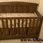 box bayi kayu jati minimalis cat natural