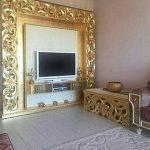 bufet tv biground figura dinding mewah kayu jati