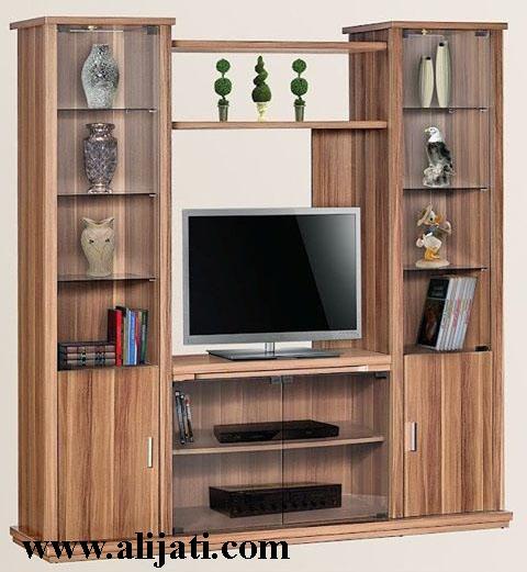 bufet tv minimalis modern kayu jati asli