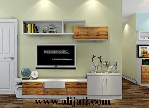 bufet tv simpel desain terbaru jati modern