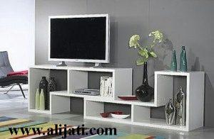 Bufet Tv Unik Minimalis Kayu Jati Modern