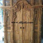 gebyok pintu desain terbaru kayu jati