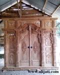 Gebyok Pintu Kayu Jati Ukir Jepara