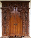 Gebyok Pintu Minimalis Kayu Jati Ukir