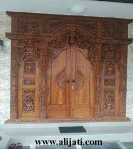 Gebyok Pintu Rumah Antik Model Baru Kayu Jati