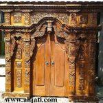 gebyok pintu rumah kayu jati perhutani