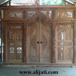 Gebyok Pintu Rumah Mewah Kayu Jati Klasik