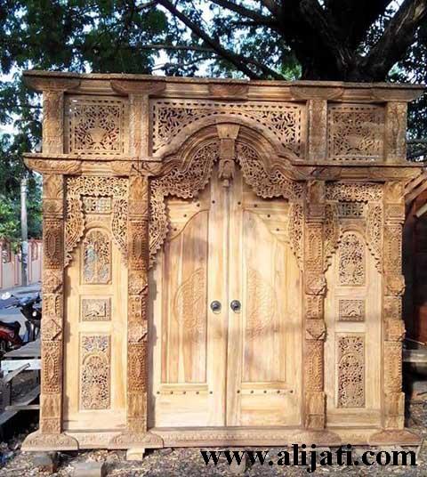 gebyok pintu rumah ukir jepara kayu jati