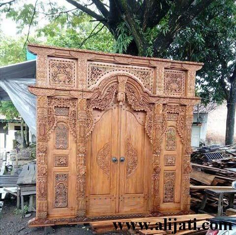 gebyok pintu terbaru kayu jati klasik modern