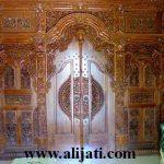 gebyok pintu ukir majapahit kayu jati