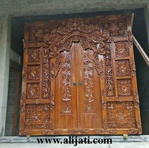 gebyok pintu ukir terbaru asli jepara