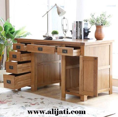 meja belajar 6 laci terbaru kayu jati