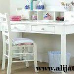 meja belajar anak cat duco putih