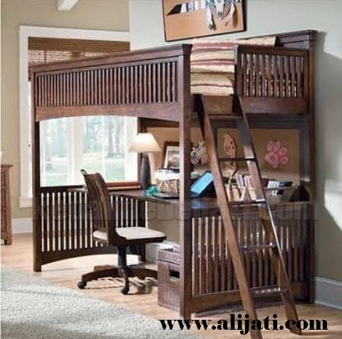 meja belajar anak desain tempat tidur