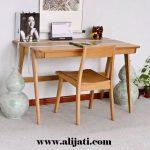meja belajar anak sederhana kayu jati