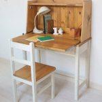 meja belajar simple kayu jati modern