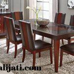 meja makan 6 kursi minimalis modern