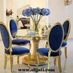 meja makan cantik kayu jati minimalis