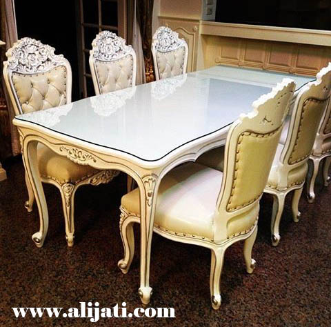 meja makan cantik kayu jati modern