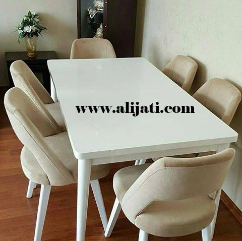 meja makan cat duco putih terbaru