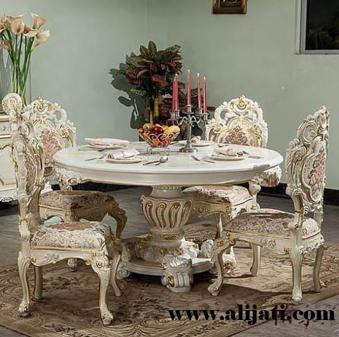 meja makan mewah ukir jepara terbaru kayu jati