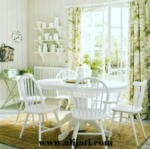 Meja Makan Minimalis Cat Duco Putih
